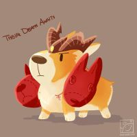 Infenal Corgi by inkinesss