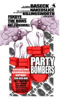 Party Bombers color flyer A by reactionarypdx