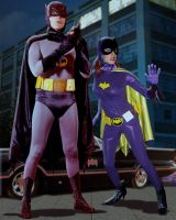 Batman  Adam West and Batgirl Leanna Chamish by smashortrash
