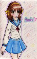 Haruhi Suzumiya for Ironcid by minamongoose