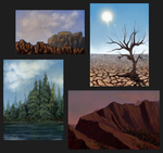 Environment speedpaints by Ravna-Resta