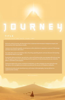 THATGAMECOMPANY: Journey journal CSS by Triple-Torch-Art