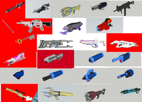 3D Models: Blockland Weapons by Takato14