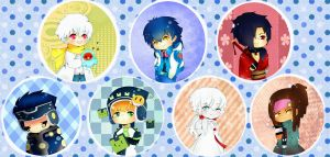 Dramatical Murder Button Set by xxMiniPandaxx