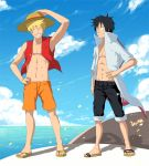 SS for IlaB - Naruto and Luffy by GaaraJamiE88