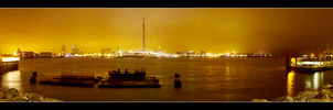 Panorama, Harbourview at night by mrk