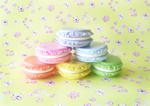 Cold Porcelain - Rainbow Macaron by CraftCandies