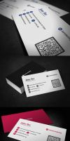 Clean QR Code Business Card by glenngoh