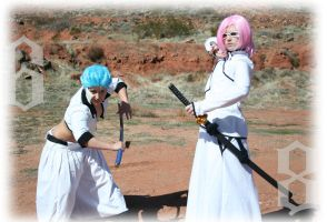 Bleach: Grimjow and Szayel at ready by Dusha-Soul