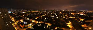 zagreb by night panorama by sholky2