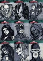 Marvel Sketch Cards-5 by feliciacano