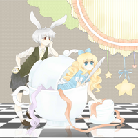 Alice and White Rabbit by arulie