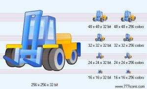 Fork-lift truck Icon by phorago