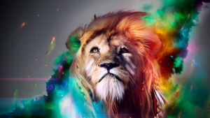 HD-Multicolor Lion Designed -Uenaoxch by Uenaoxch