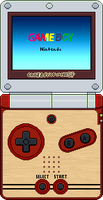 Game Boy Advance SP (Famicom) by BLUEamnesiac