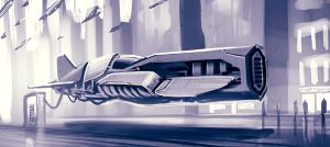 spaceship quick sketch by SkipeRcze
