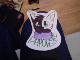 Papowske fursuiting badge example by Lockian