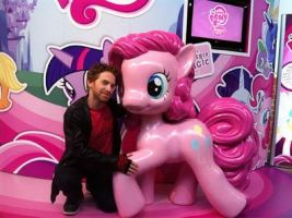 Seth Green with Pinkie Pie by Reddragon51