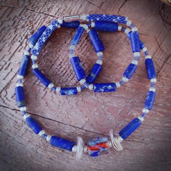 Royal Lapis Necklace by OohShinyJewelry