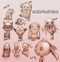 Sketch Dump: Adorkables by jtgraffix