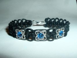 Blue Crystal Bracelet by Psy-Sub