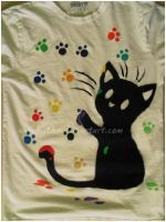 cat t-shirt by Kitka