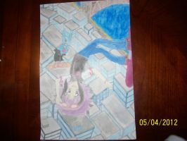 My watercolor painting!!! by Snivy94