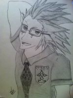 Axel in A School Uniform by MrOrangeCreamsicles