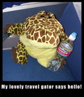 chester the travel Gator by sushi-just-ask