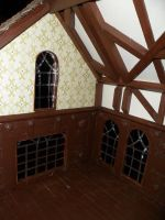 Gothic-ish Dollhouse 1:24 WIP 9: Windows by kayanah