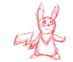 Pikachu Sketch by Fullmilly-Alchemist