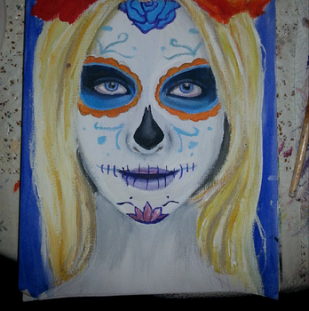 Happy Halloween - Sugar Skull by Alatariels