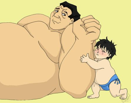 Sumo Wrestling with Papa by TheLastUnicorn1985