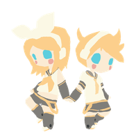 Kagamine Rin and Len by telephonehome