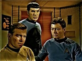 Kirk, Spock and McCoy by ColonelFlagg
