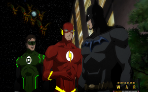 JUSTICE LEAGUE: WAR (3) GREEN L-FLASH-BATMAN by CSuk-1T