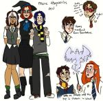 More Hogwarts Au by pastelsl0th