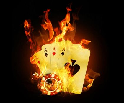 Cards On Fire-wallpaper-8994148 by DamianClark