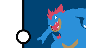 Feraligatr Minimalist Wallpaper by Narflarg