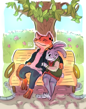 A Calm Time in the Park by HuiliZen