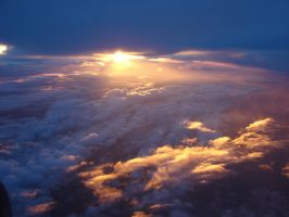 Sunset at 30,000 Ft. by docbevo