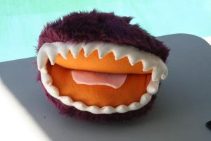 Philbert the Fizzgig mouth by Feltbetterplush