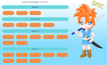 Epic fanart site layout by MikariStar