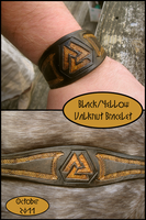 Black+Yellow Valknut Bracelet by TheScreamingNorth