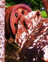 Rusty Pulley by ArtisOneofThem