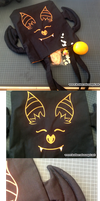 Halloween upside down sleeping tote bag by SongThread