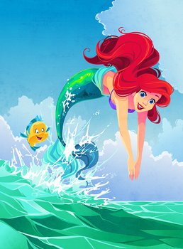 Ariel Illustration by Kuitsuku