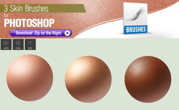 3 Photoshop Brushes for Painting Skin by pixelstains