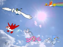 In the Sky by Shaymin1993