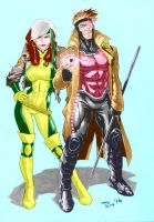 Paco Baidal ROGUE/GAMBIT in color by GordonAlyx